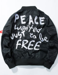 Bombers - PEACE WANTED JUST TO BE FREE noir dos